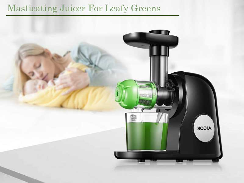 Aicok Slow Masticating Juicer Extractor | The Best Masticating Juicer for Leafy Greens