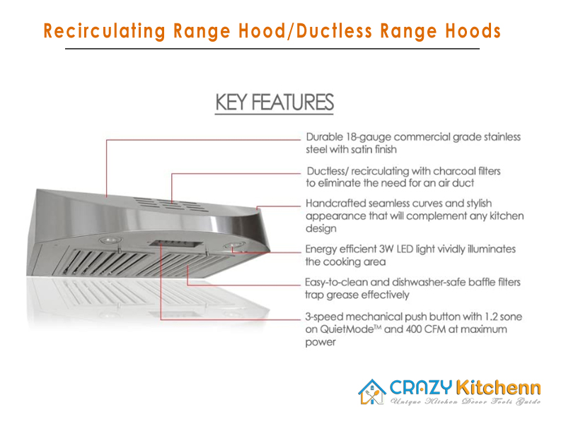 Recirculating Range Hood Features - Advanced Features of Ductless Range Hood